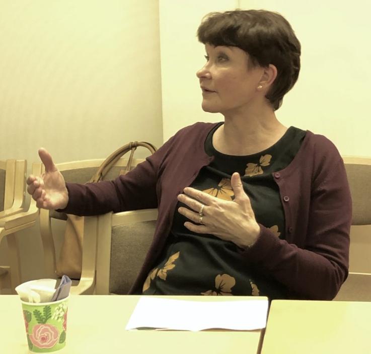 Kaupunginjohtaja Ulla Nykäsen kahvihetki, Jäppilässä 15.11.2019