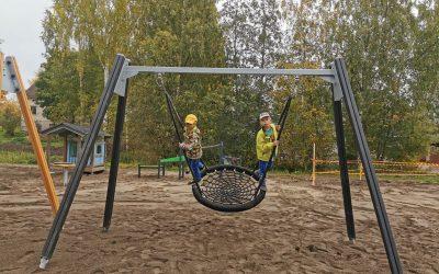 Jäppilän leikkikenttä sai uuden ilmeen