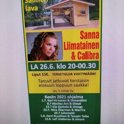 Tansseja Salmen lavalla 26.6.-12.8.2021